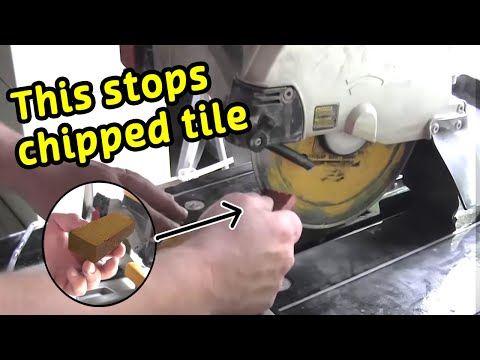 How to stop chipping tile when cutting with a wetsaw