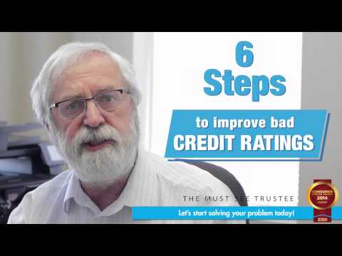 6 Steps to improve a bad credit rating