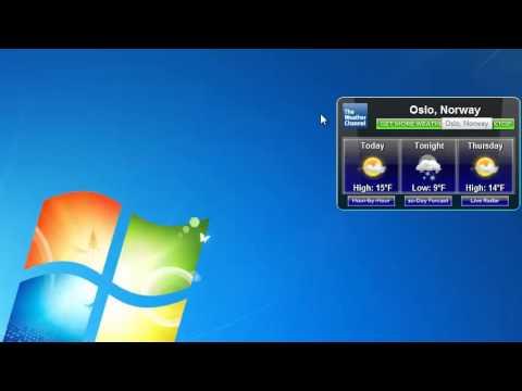 TWC Weather Windows 7 Gadget