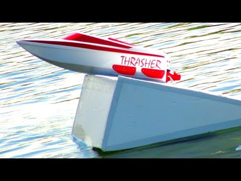 RC ADVENTURES - Home-made River Jump & RC JET Boats