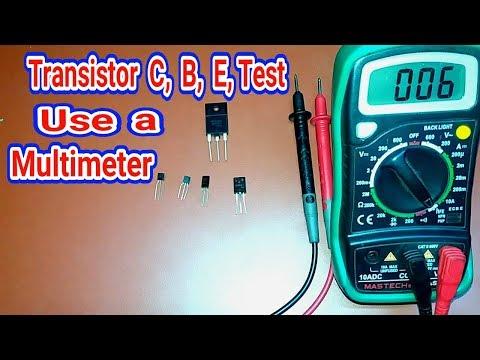 Transistor Test C,B,E, Use a Multimeter.