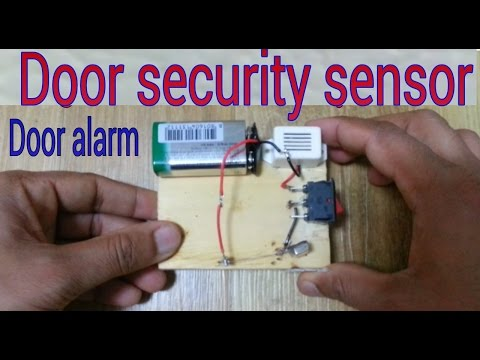 how to make a magnetic door security alarm