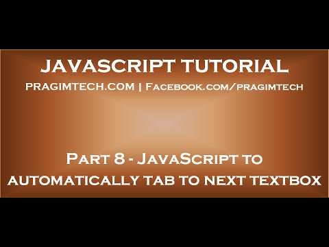 JavaScript to automatically tab to next textbox