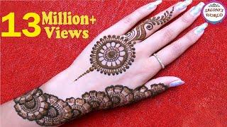 Simple Floral Arabic Henna | Mehendi Mandala | Gol Tikki Mahandi by Jyoti Sachdeva .