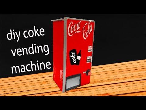 How To Make a Coke Vending Machine With cardboard