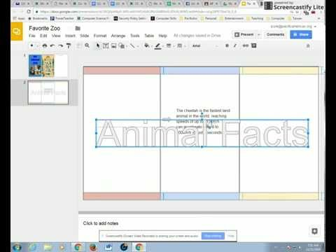 Brochure - Google Slides - Word Art