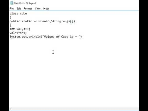 Java Program to Find Volume of Cube