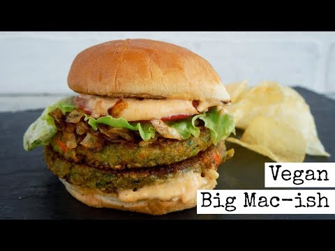 Vegan Big Mac -ish Burger | With Sauce | EASY