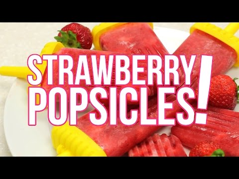 Skinny Strawberry Popsicles - Only 25 Calories!