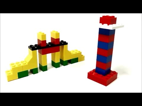 Simple LEGO Bridge & Lighthouse (How to Build)