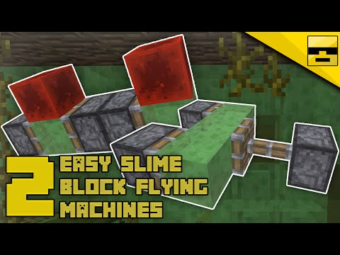 HOW TO MAKE SLIME BLOCK FLYING MACHINES | Minecraft Tutorial