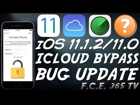 iOS 11.1.2/11.0 iCloud Bypass Using the Passcode BUG IMPORTANT UPDATE!