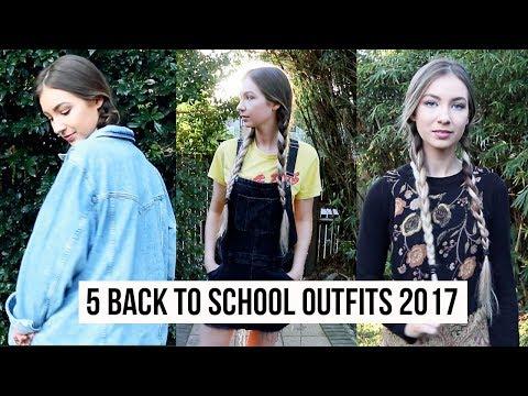 5 BACK TO SCHOOL OUTFITS | SCHOOL LOOKBOOK 2017