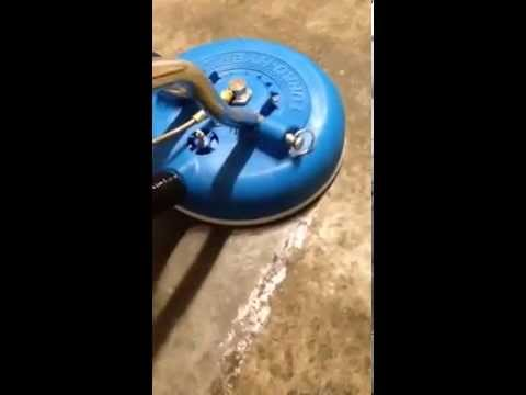 cleaning walk in freezer concrete floor - removing grime with steam