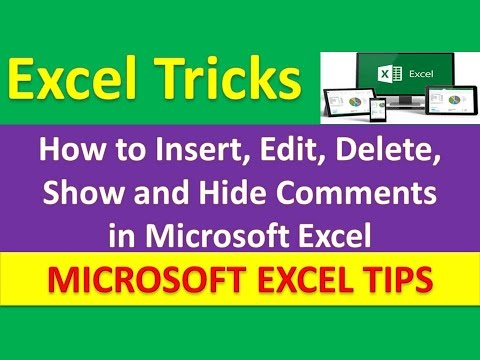 How to Insert, Edit, Delete, Show and Hide Comments in Microsoft Excel : Excel Tricks [Urdu / Hindi]