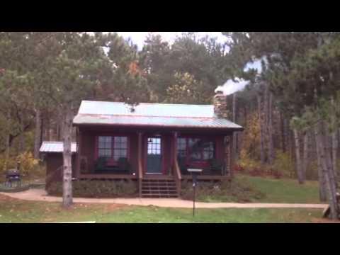 The Blue Ash Farm cabin in the fall.