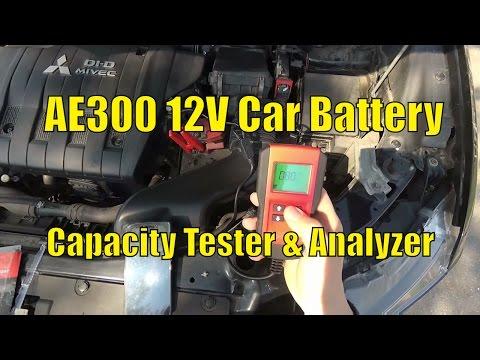 AE300 12V Digital Car Battery Capacity Tester & Analyzer