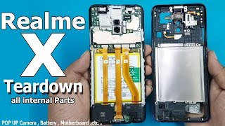 Realme X Full Disassembly / Teardown    All Internal Parts Of Realme X / How to open Realme x
