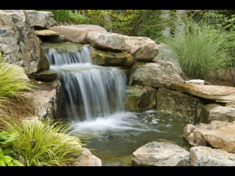 Build Pond With Stream System - a Stream in The Garden