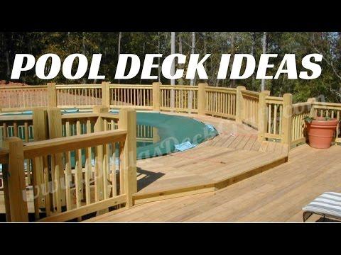 ☑️Above Ground Pool Deck Ideas