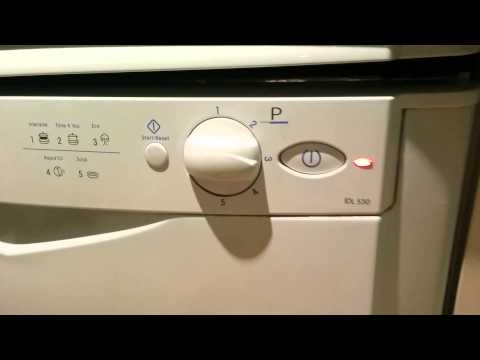 Indesit dishwasher - stack and turn on tutorial