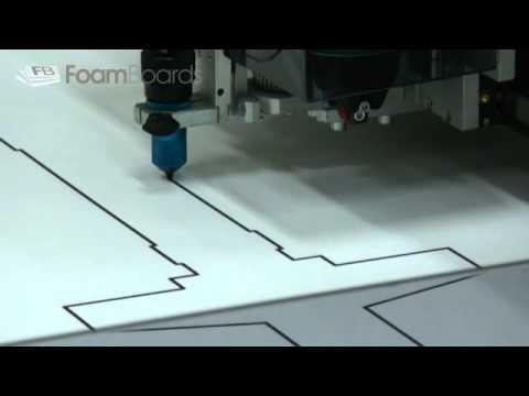 Model Plane Plan Drawn On Foam Board For Modeling
