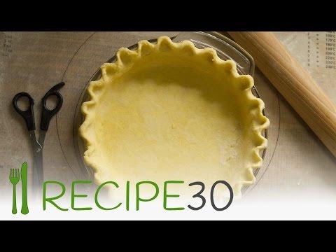 Secret to flaky pie crust recipe - how to make it  By www.recipe30.com