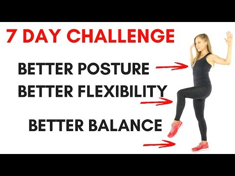 7 DAY CHALLENGE TO IMPROVE YOUR POSTURE, BALANCE ANF FLEXIBILITY - PLUS LOW IMPACT CARDIO