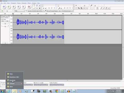 Creating WAV and MP3 Sound Files With Audacity