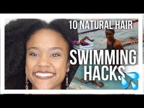 10 Natural Hair Swimming Hacks from a Competitive Swimmer | Hairstyles, Products, Secrets
