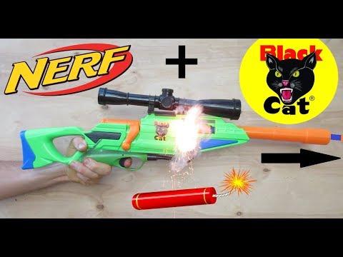 Nerf Gun mod! (Firecracker Powered!) Fireworks