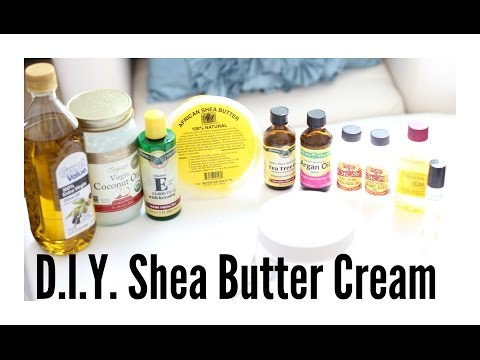 EASY D.I.Y. Shea Butter Cream for Healthy Soft Hair & Clear Skin