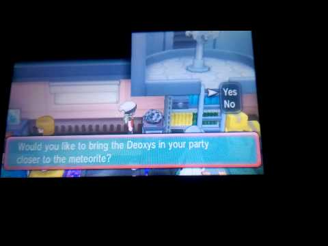 Tutorial: How To Change Deoxys Form In ORAS