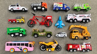 Mix of Various Toy Vehicles and Reviewing Picked Up from in the Sand