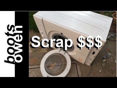 What to look for when scrapping a washing machine