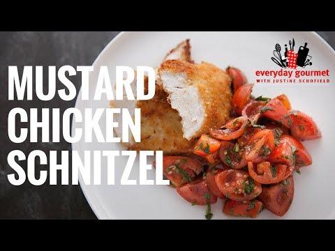 Mustard Chicken Schnitzel | Everyday Gourmet S6 E58