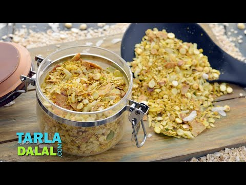 Oats and Poha Chivda (Diabetic Snack) by Tarla Dalal