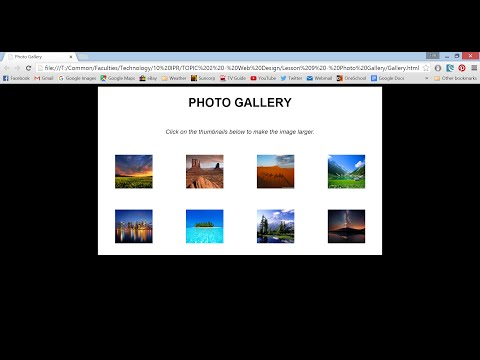Make a Photo Gallery Using HTML & CSS