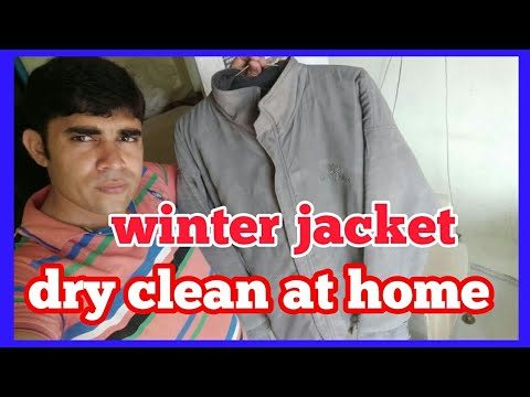 how to winter jacket dry clean  at home ..dirty  jacket wash at home.