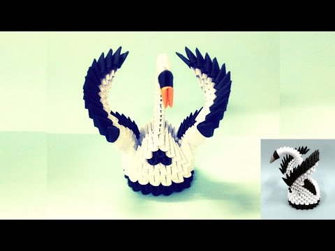How to make 3d origami - small swan