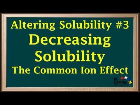 BCLN - Decreasing Solubility - Chemistry