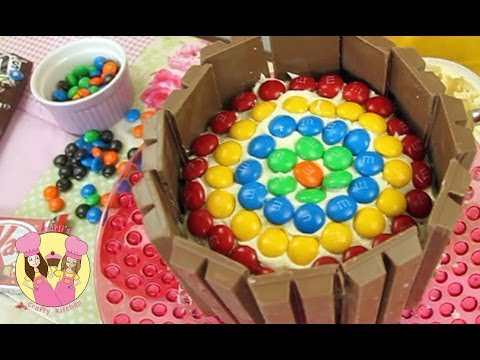Decorate a Kit-Kat RAINBOW BIRTHDAY CAKE - Easy how-to tutorial - party idea