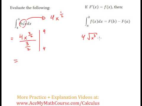 Definite Integral (Calculus) - Worked Example #4