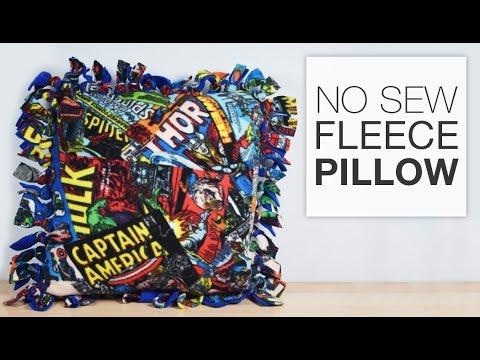 DIY No Sew Fleece Pillow Tutorial