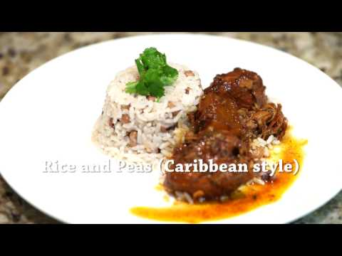 Rice and peas - Caribbean style rice cooked with peas or beans in coconut milk