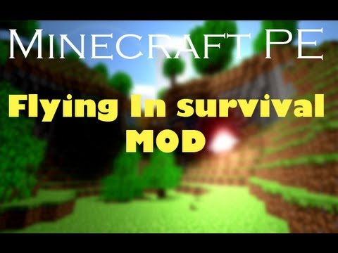 MInecraft PE Mod review flying in survival