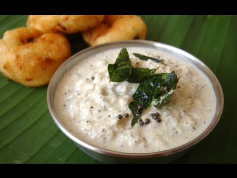 Simple Coconut Chutney Restaurant Style - Thengai Chutney By Jai Padhu