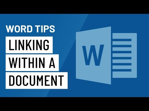 Word Quick Tip: Linking Within a Document