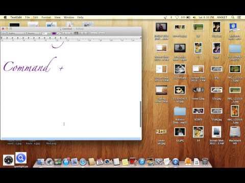 Increase/decrease font size on mac by shortcut key