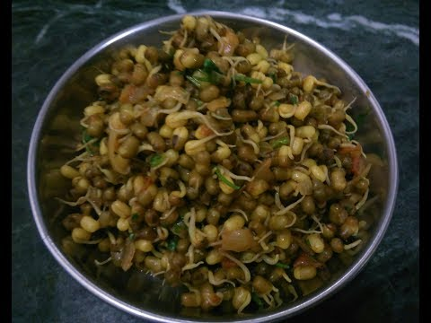 Sprouted moong ki sabji /moongachi bhaji